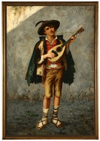 young musician playing a mandolin by gaetano mormile