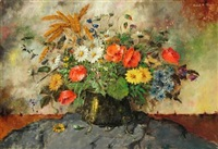 still-life with bouquet by carl h. fischer