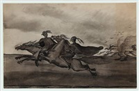 two riders in full speed by helga ancher