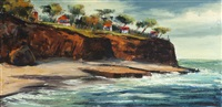 cottages in a california coastal view by ben abril