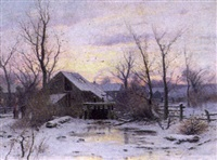 wintry twilight by dubois fenelon hasbrouck