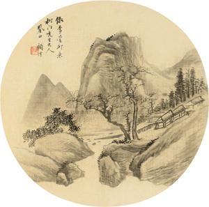 溪山无尽 landscape by gu yun