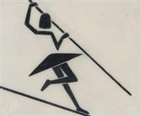 zirkusszenen mit seiltänzerin (+ 3 others; 4 works) by werner gothein