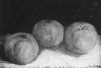 still life of green apples by george hetzel