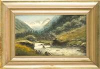 die floitenbrücke in tiroler zillertal by joseph rummelspacher