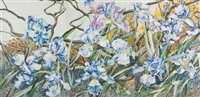 windy & sunny irises by patricia tobacco forrester