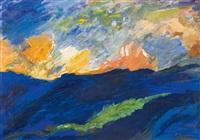 landschaft mit bewegtem himmel by sigrid kopfermann