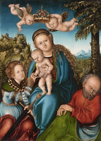 the mystic marriage of saint catherine by lucas cranach the elder