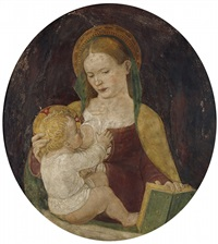the virgin with child by ambrogio borgognone
