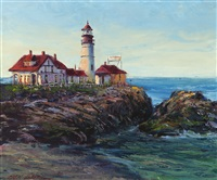 united states coast guard - lighthouse, coast of maine by ben abril