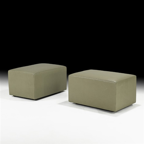 custom ottomans pair by christian liaigre