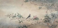 幽鸣 (bird and flowers) by xu anmin