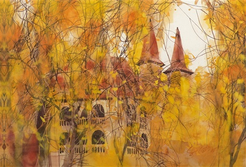 the old house in autumn by liu yaping