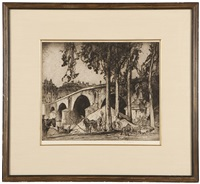 pont marie, paris by sir frank brangwyn