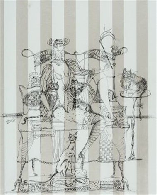 katzenidylle auf frühlingsbank by bele bachem