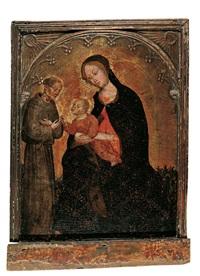 die madonna mit dem kind und dem hl. franziskus by ottaviano nelli