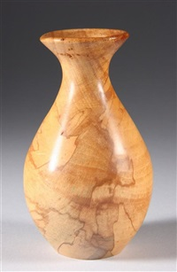 small beech vase by melvin lindquist