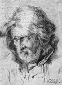 porträt eines älteren mannes mit gewelltem haar by jacques-antoine arlaud