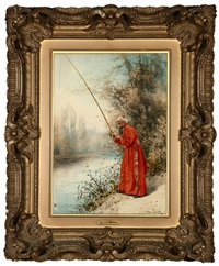 cardinal fishing by alfred charles weber