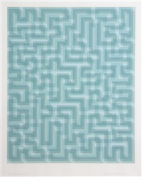 blue meander by anni albers