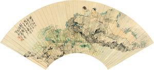 荷净纳凉 figure by ma jingjiang