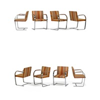 brno chairs (set of 8) by ludwig mies van der rohe