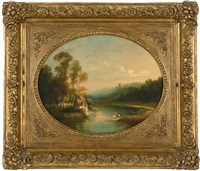 hudson river near west point by thomas doughty