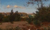 summer landscape near fredensborg, denmark by ludvig kabell