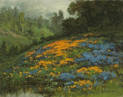 california hillside with poppies and lupine by william franklin jackson
