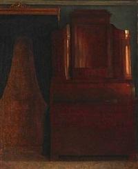 interior with a bureau by frederik (johan frederik nikolai) vermehren