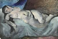 reclining nude by bernard hasler