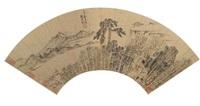 landschaft mit gelehrtenstudio by liu yuanqi
