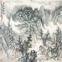 云溪流韵图 (landscape) by zeng xianguo
