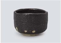 seto black tea bowl by arakawa toyozo