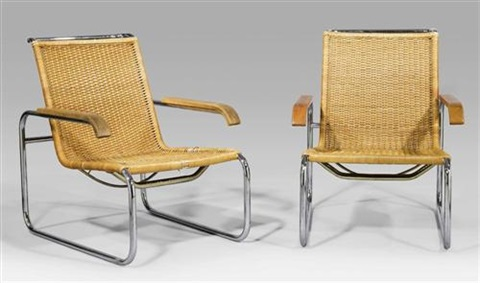 paire de fauteuils b35 design pour thonet by marcel breuer on artnet. Black Bedroom Furniture Sets. Home Design Ideas
