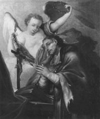 der heilige johannes nepomuk vor dem kreuz betend by ignaz joseph raab