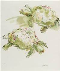 zwei schildkröten by oskar kokoschka