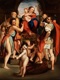 thronende madonna by anonymous-italian