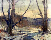 winter landscape by albert alfredson