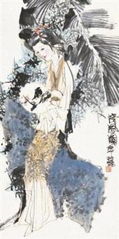 清风图 立轴 设色纸本 by lin yong