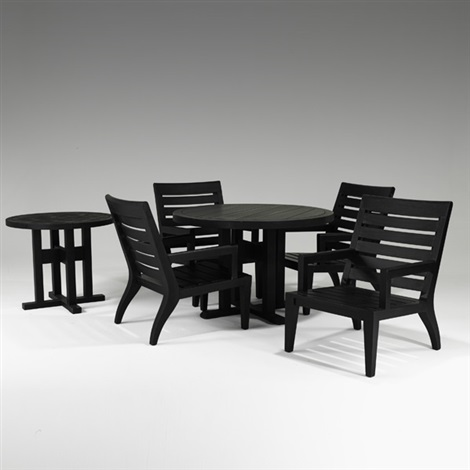 Outdoor dining set Dining table, armchairs and side table 6 works ...