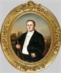 bäckermeister theodor friedrich august stolzenberg (+ auguste emma luise stolzenberg; pair) by c. sönecke
