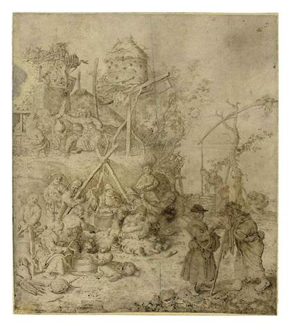 a peasant encampment by willem (guilliam) de heer