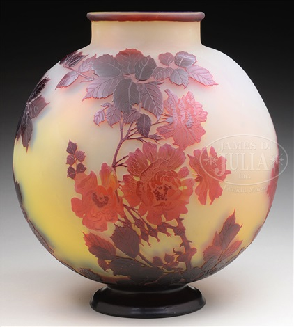 Large Galle Cameo Glass Vase By Cristallerie Demile Gall On Artnet