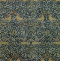 bird pattern drapes (11 works, various sizes) by william morris