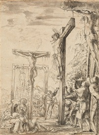 crucifixion by wolf huber