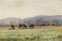 kühe auf der weide by louis le poitevin