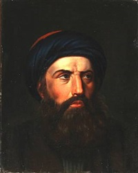 a gentleman with beard and turban by hans ditlev christian martens