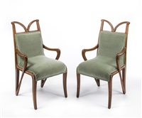 a pair of armchairs by tony selmersheim