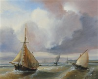 ships at sea by a. la holt